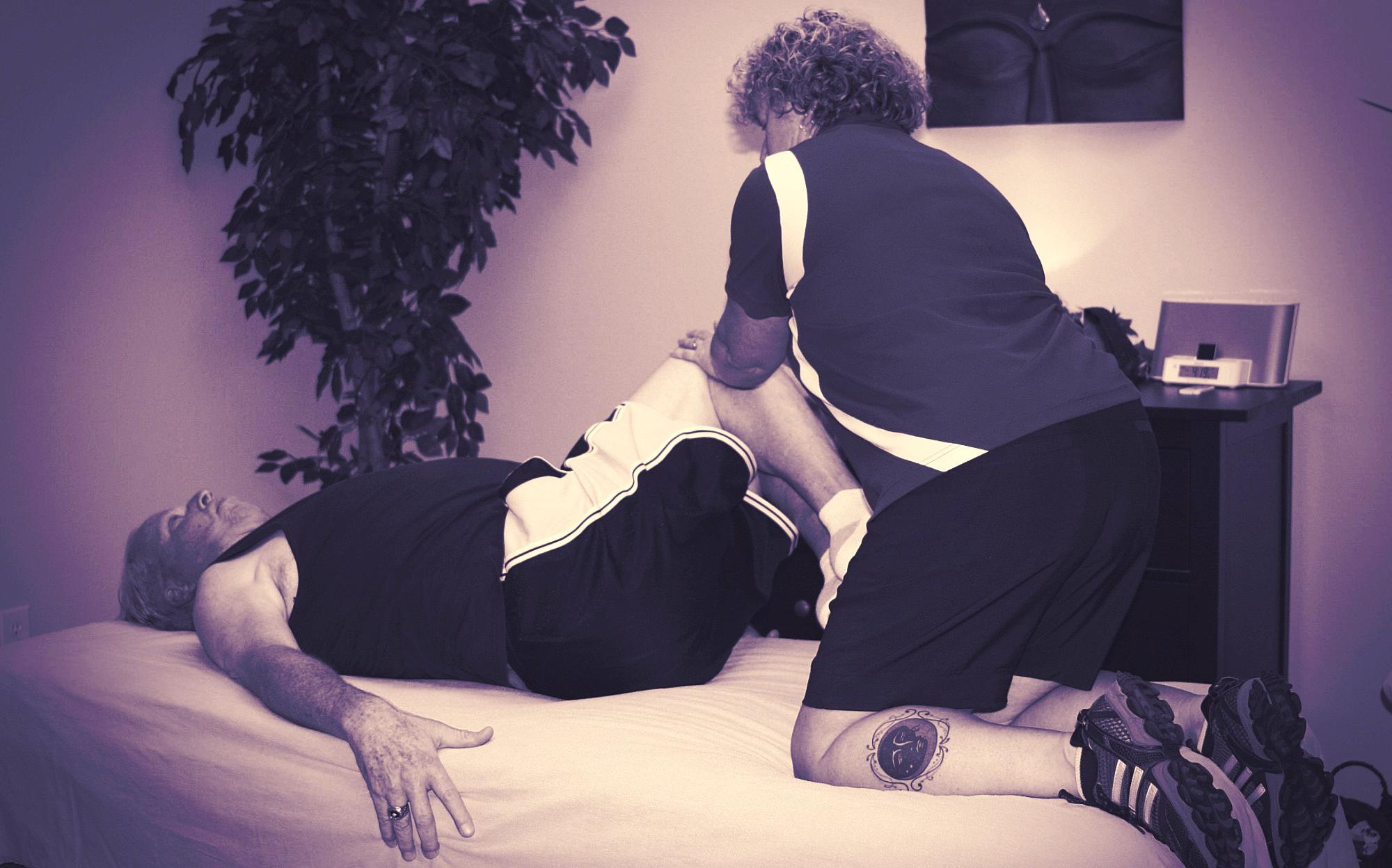 Julie Ashlock performing Active Isolated Stretching